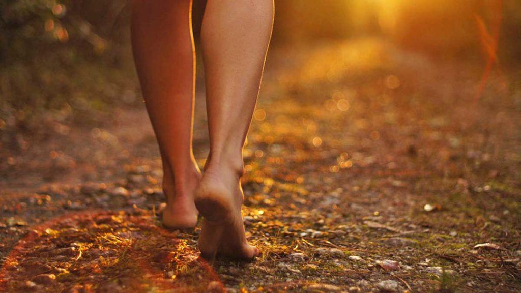 grounding earth feet